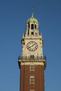 Low angle view of a clock tower by Panoramic Images