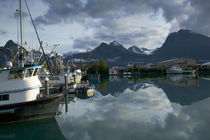 Boats moored at the harbor, Valdez, Valdez-Cordova, Alaska, USA by Panoramic Images