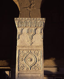 Details of carvings on the column of a mosque, Syria by Panoramic Images