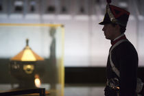 Security guard at the mausoleum of General Artigas by Panoramic Images