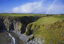 Rainbow over Ballydowane, The Copper Coast, County Waterford, Ireland by Panoramic Images