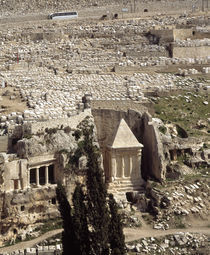 High angle view of the ruins of a building, Jerusalem, Israel by Panoramic Images