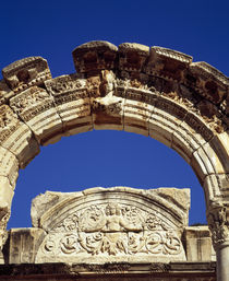 Low angle view of the entrance of a temple, Temple of Hadrian, Ephesus, Turkey by Panoramic Images