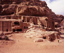 Ruins of cliff dwellings, Petra, Jordan by Panoramic Images