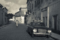 Car parked in a street, Calle San Jose, Colonia Del Sacramento, Uruguay by Panoramic Images