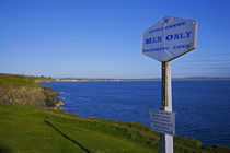 Anachronistic Sign, Guillamene Swimming Cove, Tramore, County Waterford, Ireland by Panoramic Images