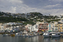 Boats moored at a port, Capri, Naples, Campania, Italy by Panoramic Images