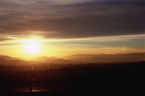 Sunset over mountains, Interstate 5, Grants Pass, Josephine County, Oregon, USA von Panoramic Images