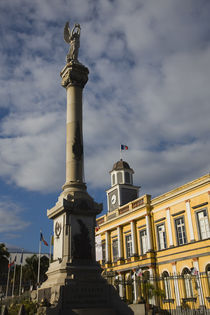 Low angle view of a monument in front of a government building by Panoramic Images