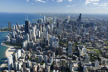 Aerial view of a city, Lake Michigan, Chicago, Cook County, Illinois, USA von Panoramic Images