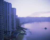 Hotel buildings at the waterfront, Acapulco, Guerrero, Mexico by Panoramic Images