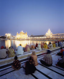 The Golden Temple, holiest shrine in the Sikh religion, Amritsar, Punjab, India von Panoramic Images