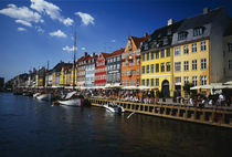 Buildings at the waterfront, Nyhavn, Copenhagen, Denmark by Panoramic Images