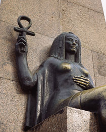 Woman's statue holding an Ankh, Alexandria, Egypt by Panoramic Images