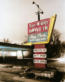 Vintage Drive In Sign by Panoramic Images
