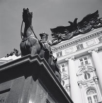 Low angle view of a statue in front of a building, Vienna, Austria by Panoramic Images