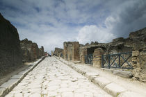 Tourists at old ruins, Pompeii, Naples, Campania, Italy by Panoramic Images