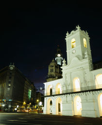 Museum lit up at night, Museo Del Cabildo, Buenos Aires, Argentina by Panoramic Images