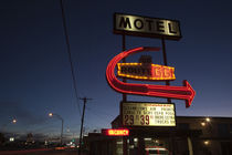 Low angle view of a motel sign, Route 66, Kingman, Mohave County, Arizona, USA by Panoramic Images