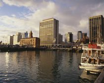 Buildings on the waterfront, Milwaukee, Wisconsin, USA by Panoramic Images