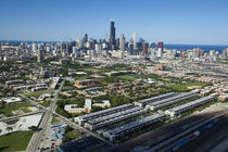 Aerial view of a city, Chicago, Cook County, Illinois, USA 2010 by Panoramic Images