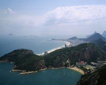 Aerial view of a mountain range, Sugarloaf Mountain, Rio De Janeiro, Brazil von Panoramic Images