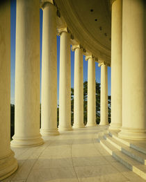 Marble floor and columns, Jefferson Memorial, Washington DC USA by Panoramic Images