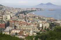 High angle view of a city, Naples, Campania, Italy by Panoramic Images