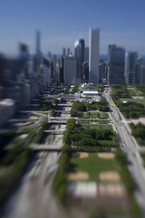 High angle view of a city, Chicago, Cook County, Illinois, USA by Panoramic Images