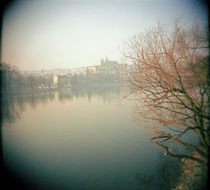 Buildings at the waterfront, Prague, Czech Republic by Panoramic Images