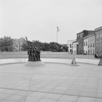 Statues of army soldiers in the courtyard of a memorial by Panoramic Images