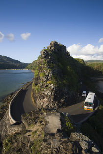 High angle view of vehicles on a coastal road by Panoramic Images