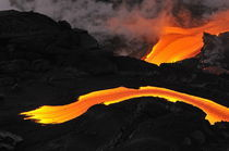 River of molten lava flowing to the sea, Kilauea Volcano, Hawaii Islands, United States by Sami Sarkis Photography