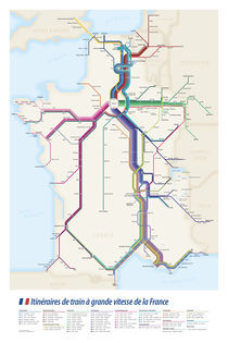 Itinéraires de train à grande vitesse de la France by Cameron Booth