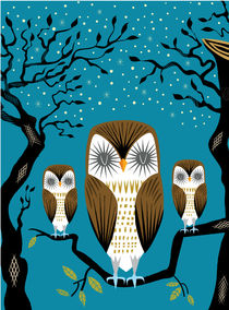 Three Lazy Owls  von Oliver Lake