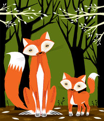 Two Fine Foxes  von Oliver Lake