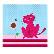 Pink cat by Amélie Mimeault