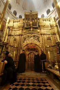 The Edicule at the Church of the Holy Sepulchre, the entrance to Jesus' Tomb by Hanan Isachar