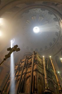 Easter, the Ceremony of the Holy Light at the Church of the Holy Sepulchre  by Hanan Isachar