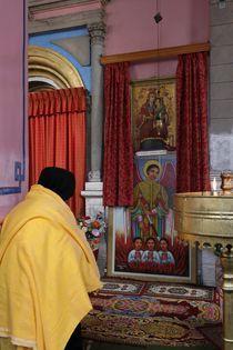 Jerusalem, a prayer at the Ethiopian Church by Hanan Isachar