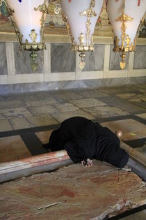 The Stone of Anointing at the Church of the Holy Sepulchre by Hanan Isachar