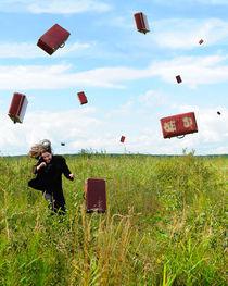 Suitcase rain by Roman Rodionov