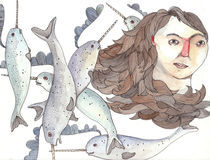 Narwhales Girl by Brooke Weeber