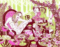 Alice at the Tea Party by Julia Minamata