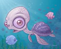 Sea Turtle by John Schwegel