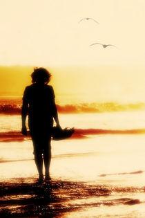Woman on the beach by Albin Bezjak