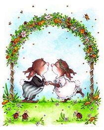 Hasen-Hochzeit von Katja Kiefer