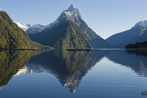 Mitre Peak rising from Milford Sound, New Zealand by Ross Curtis