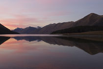 Sunset over North Mavora Lake by Ross Curtis