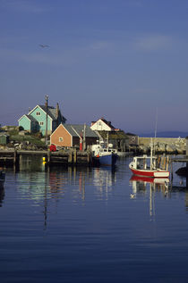 Peggy's Cove Fishing Village by Wolfgang Kaehler